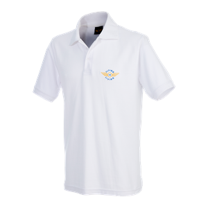 "Poloshirt ""Flying is Living"" XX-Large, White"