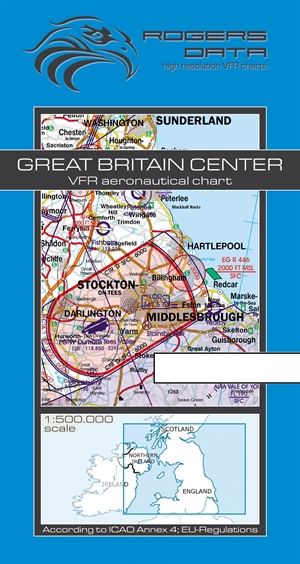 Rogers Data - Great Britain Center VFR Chart